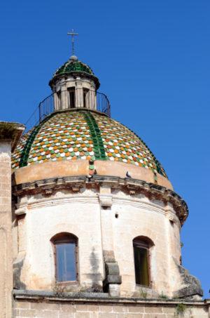 Cupola maiolicata Chiesa Matrice