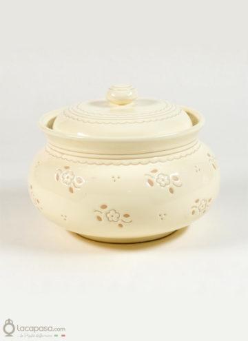 "Biscottiera in ceramica ""Zeppola"""