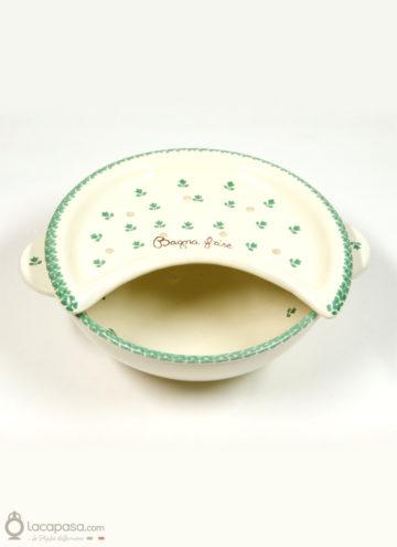 Bagna frise in ceramica decorato a mano