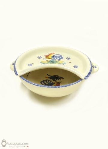 Bagna Frise ceramica - decoro Gallo