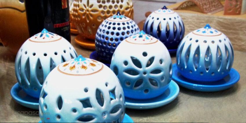 Porta Candele in Ceramica Artistica: Decorare con la Luce delle Stelle
