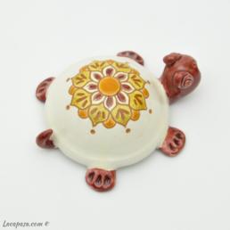 Tartaruga graffita in ceramica