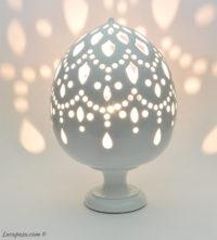 LAMPADA 'Meleagrina' in ceramica
