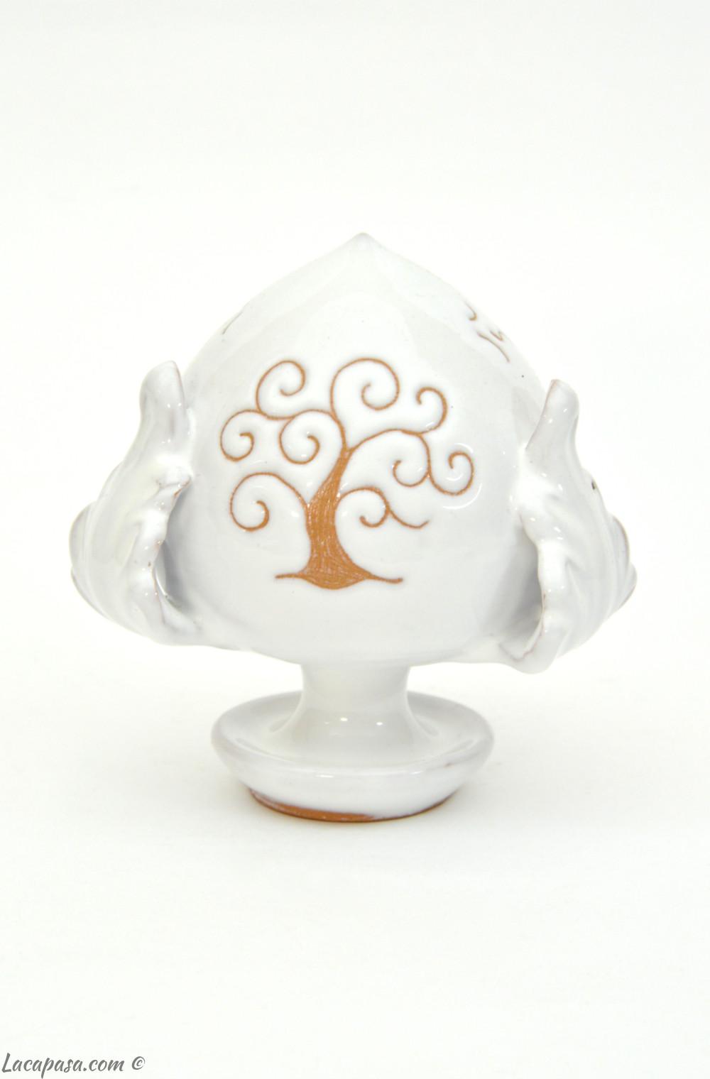 ALBERO DELLA VITA - Pumo bomboniera ceramica