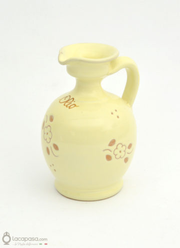Oliera in ceramica - decoro Fiori Incisi