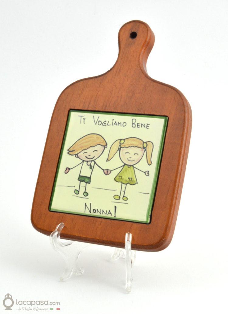 """Tagliere in legno e ceramica """"Ribes"""""""