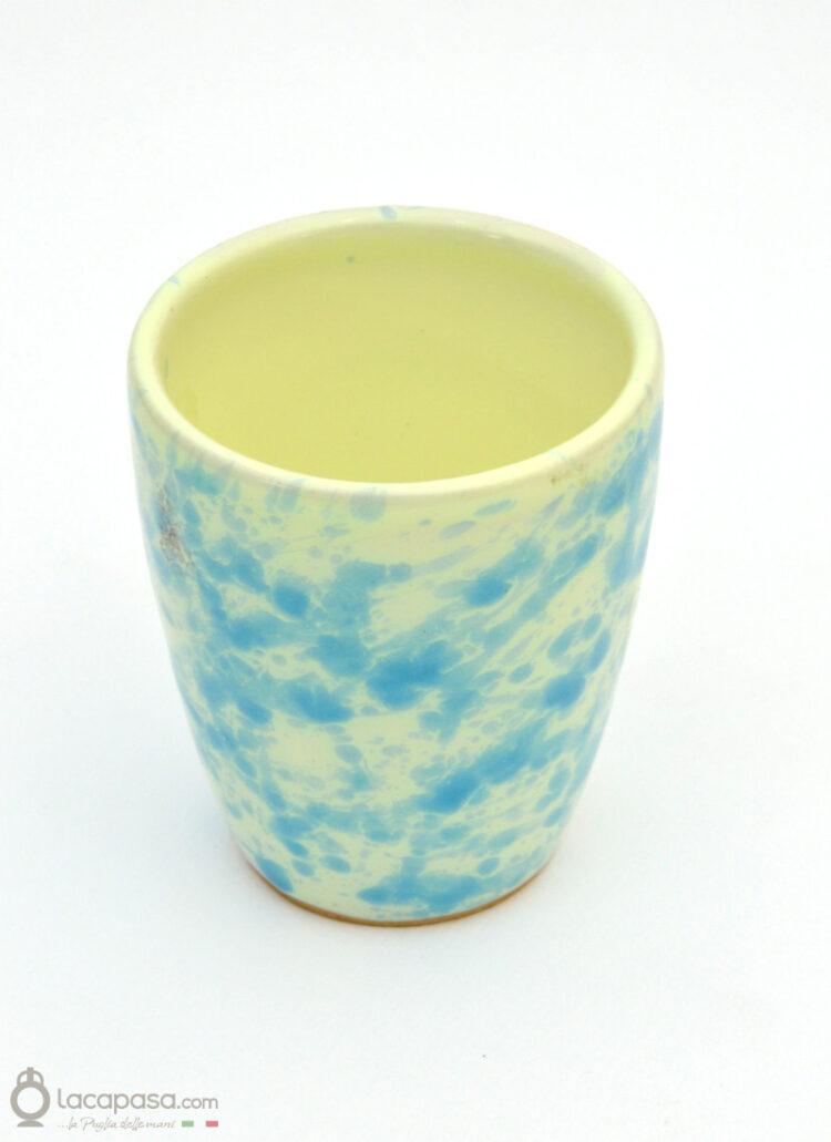 Set 6 Bicchieri ceramica - decoro Macchia