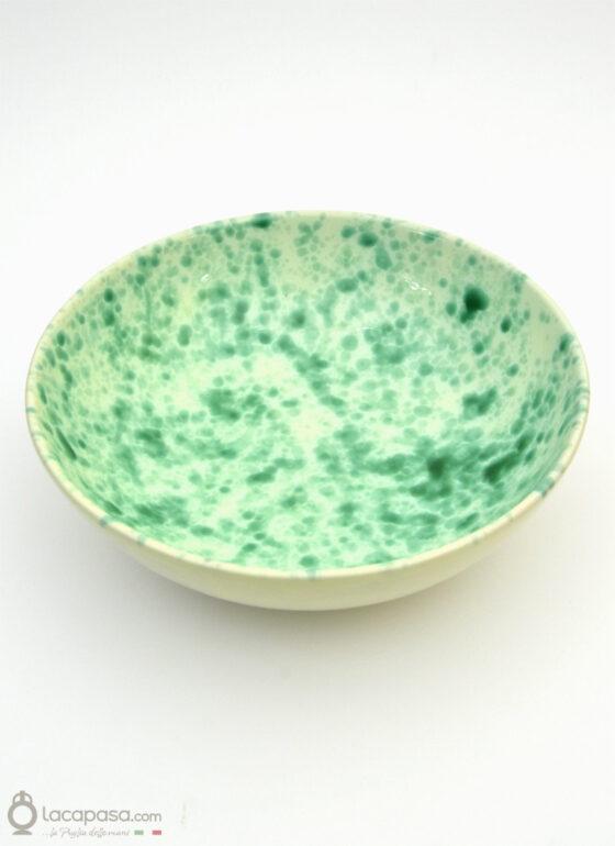 Insalatiera ceramica - decoro Macchia