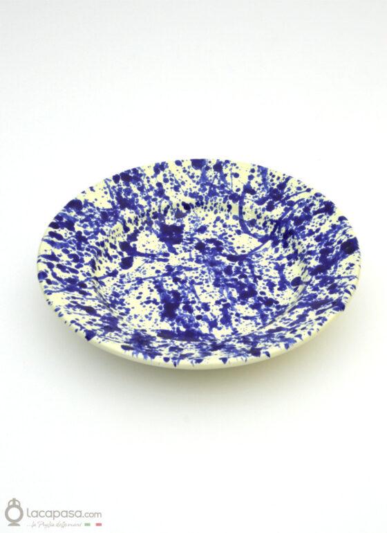 Piatto Fondo ceramica - decoro Macchia
