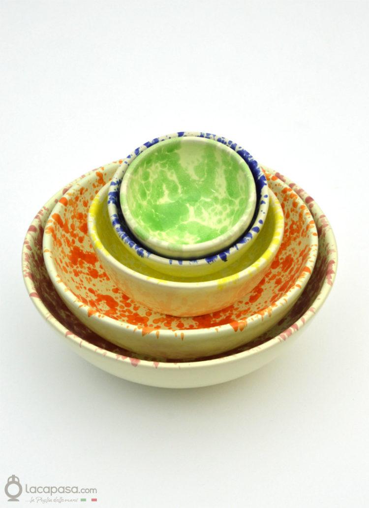 Ciotola ceramica - decoro Macchia