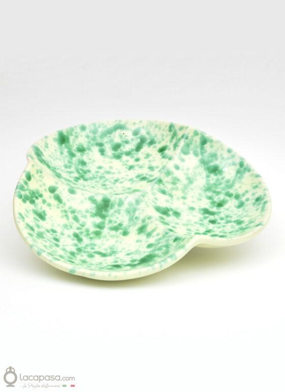 Antipastiera ceramica - decoro Macchia