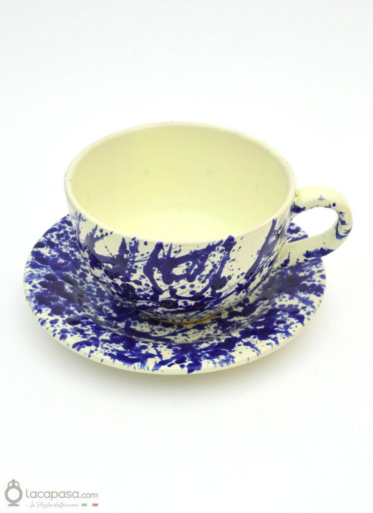Tazza Latte ceramica - decoro Macchia