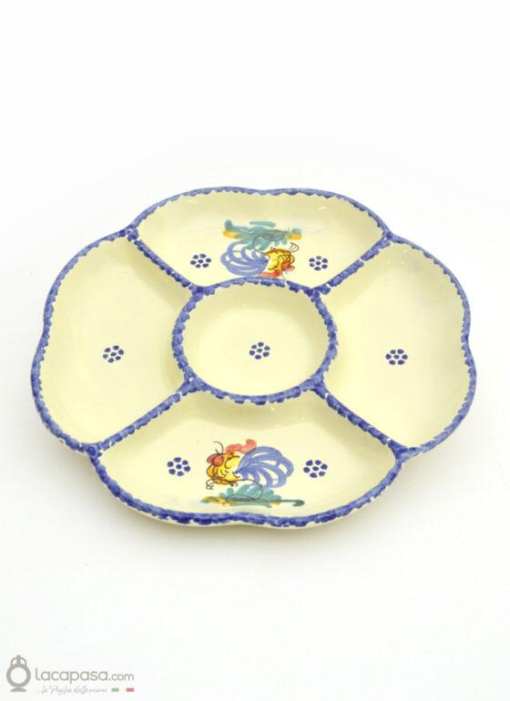 Antipastiera ceramica - decoro Gallo