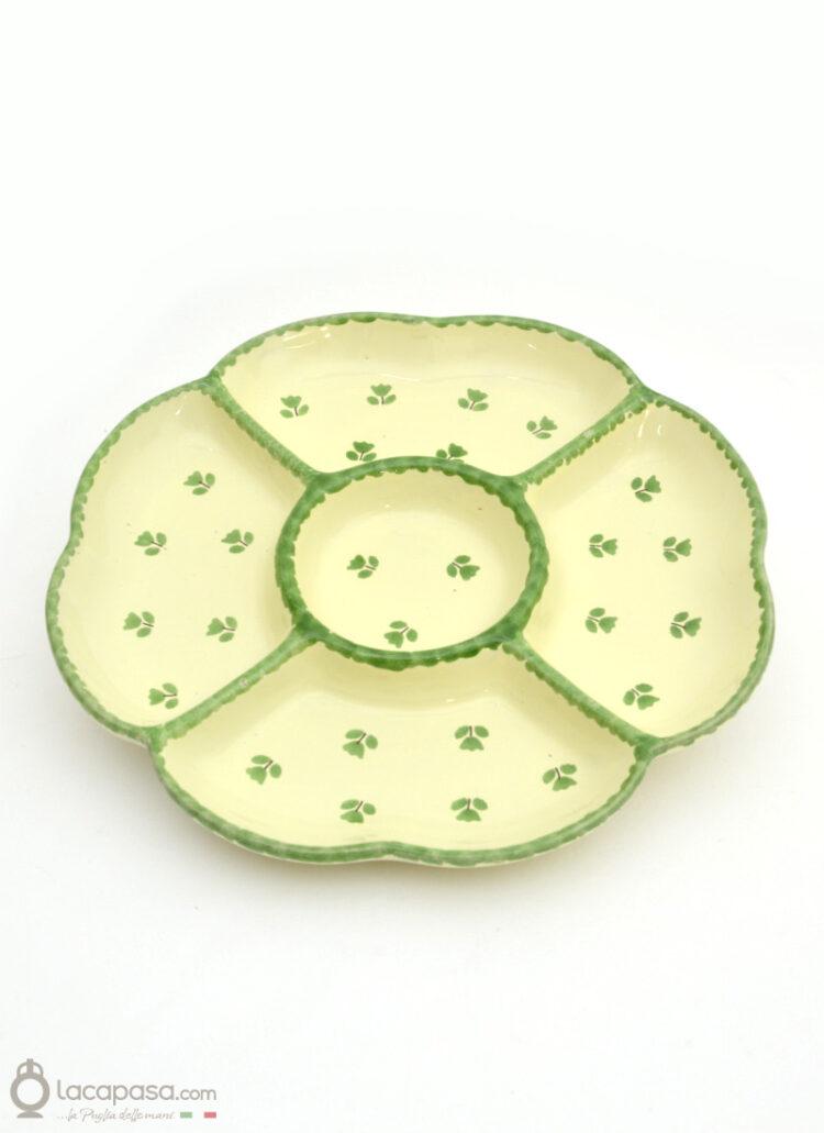 Antipastiera ceramica - decoro Tulipano