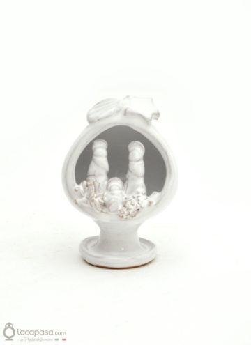 PUMO - Presepe bomboniera ceramica