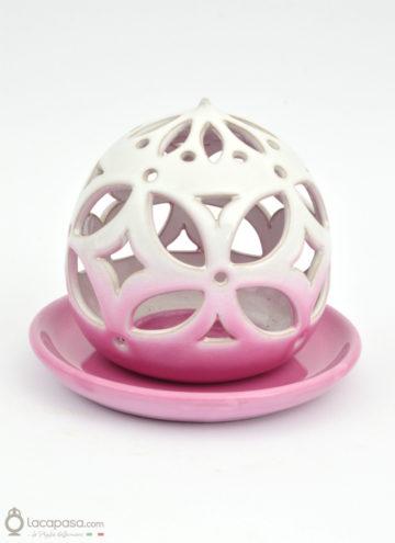 DALIA ROSA - Porta candela in ceramica