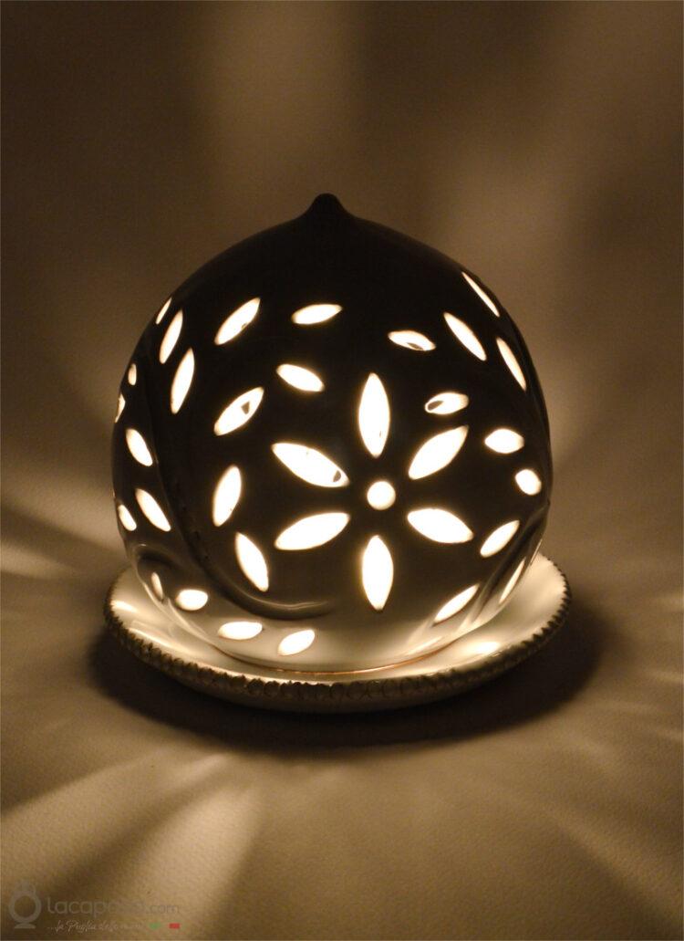 CLEMATIDE - Porta candela in ceramica