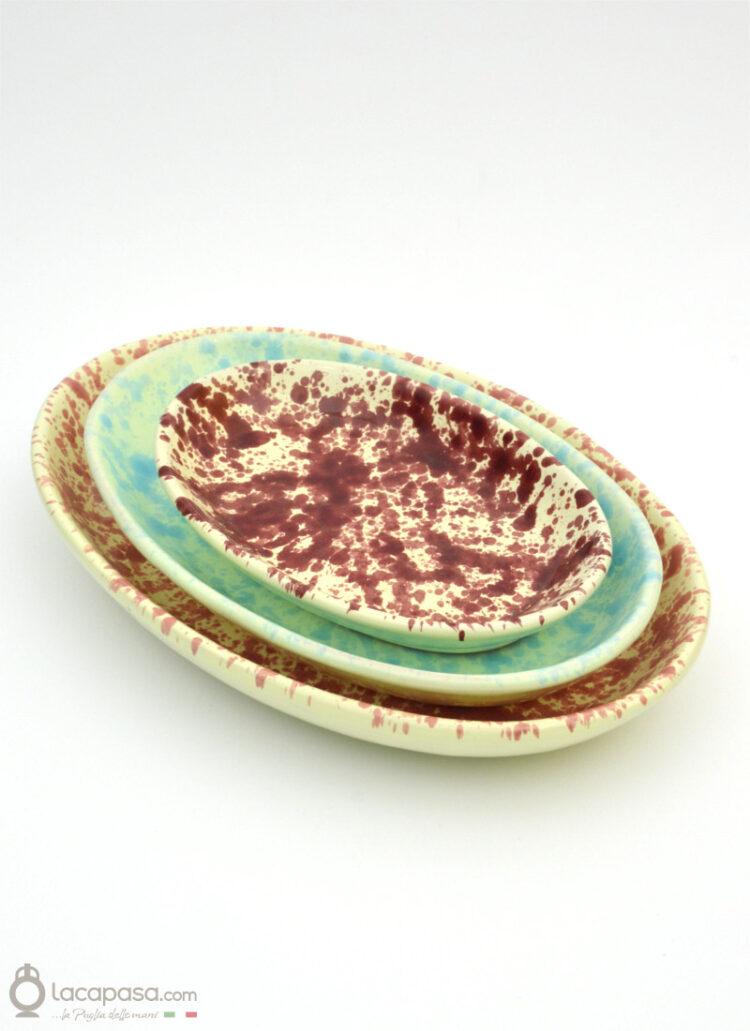 Piatto Portata ceramica - decoro Macchia