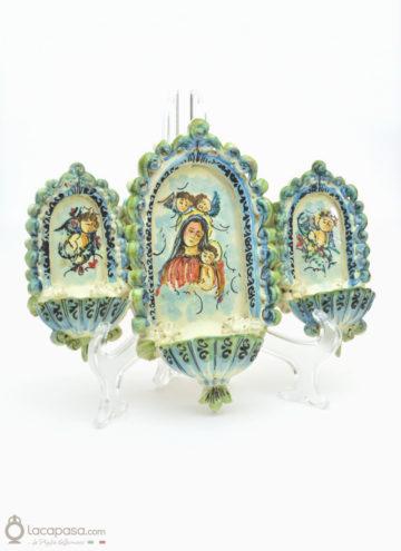 MATER DEI - Acquasantiera in ceramica