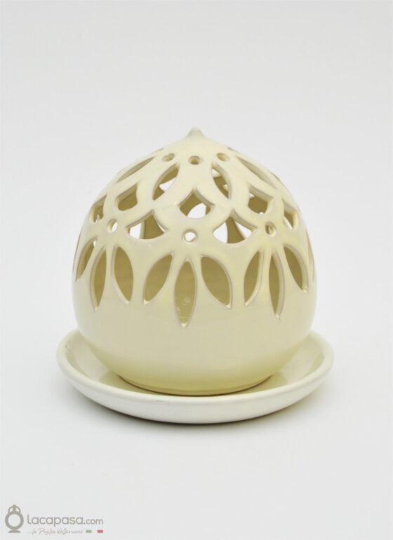 SALICE - Porta candela in ceramica