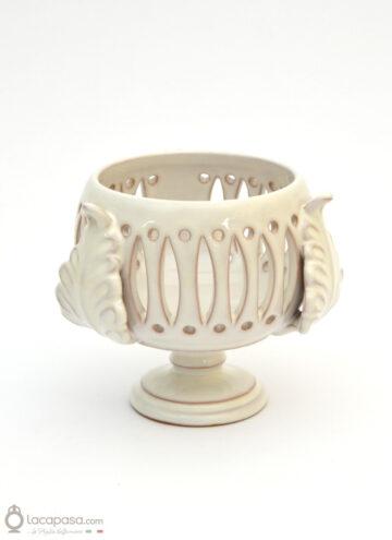 PASSIFLORA - Porta candela in ceramica