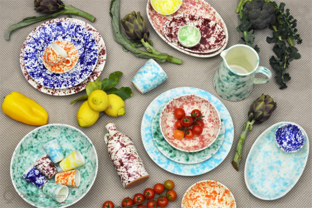 Collezione MACCHIA - Stoviglie in ceramica, la primavera a tavola!