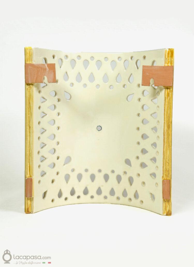 FIORDALISO - Applique da parete in ceramica