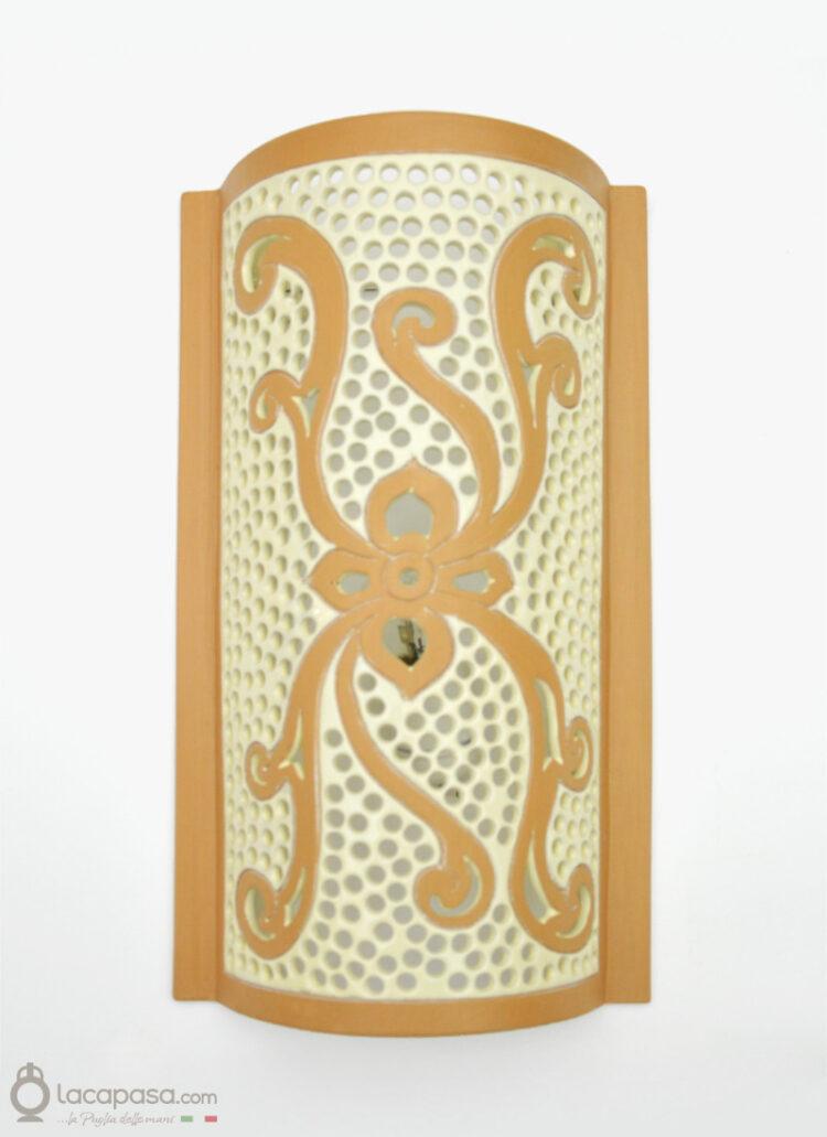GLICINE - Applique da parete in ceramica