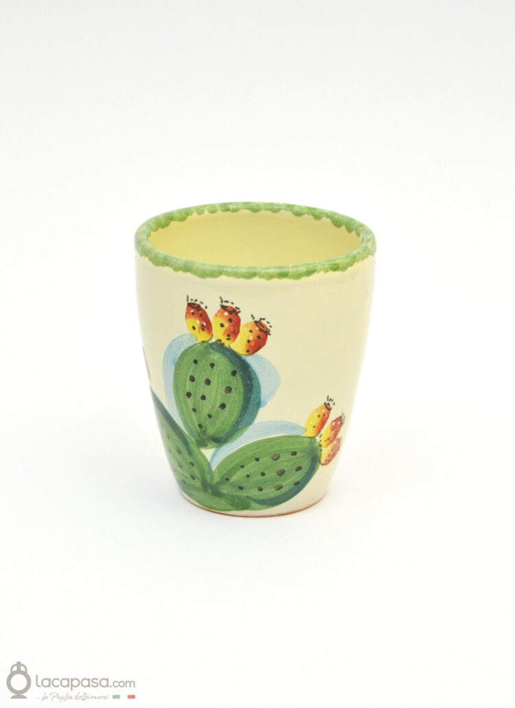 Prickly Pear ceramic glass