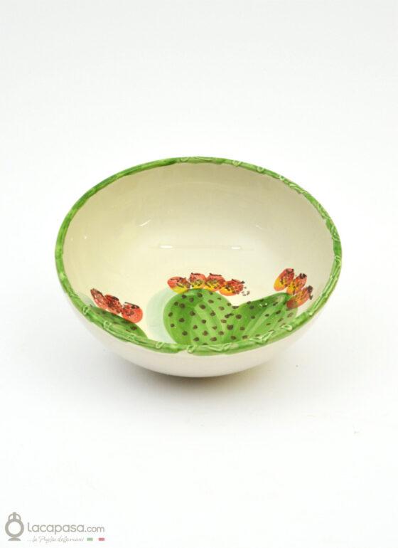 Piatto Fondo Ciotola ceramica - decoro Fico d'India