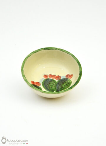 Ceramic bowl - Prickly Pear decoration