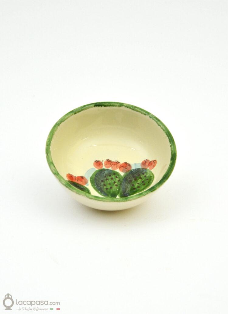 Ciotola ceramica - decoro Fico d'India