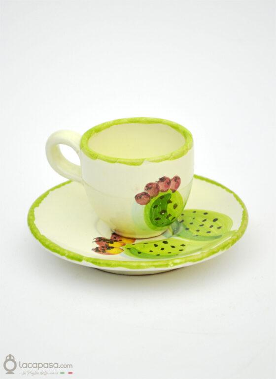 Tazzina Caffè ceramica - decoro Fico d'India
