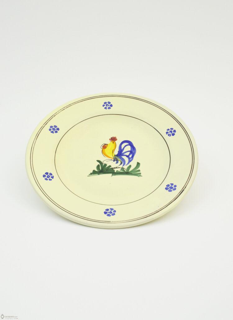 Piatto Frutta ceramica - decoro Gallo
