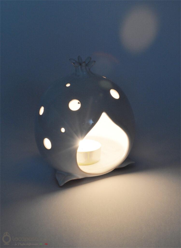 AKO - Porta candela Melograno in Ceramica