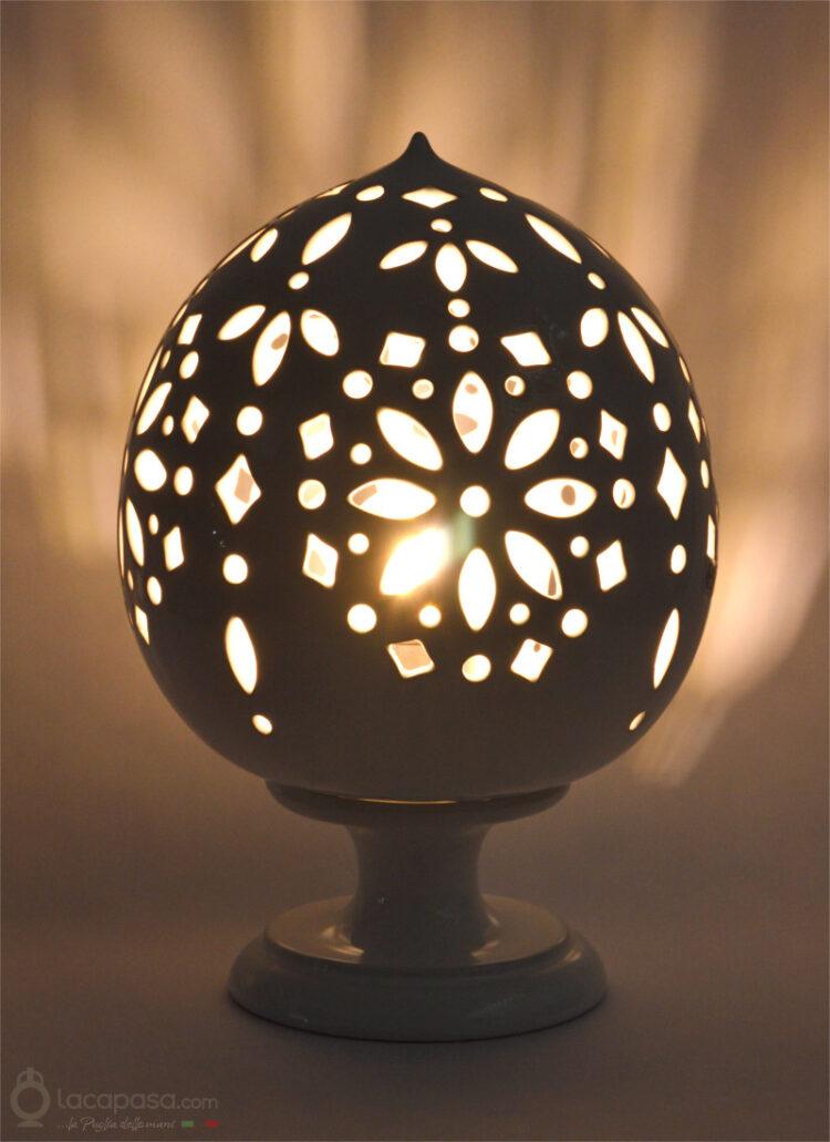 SANTOLINA - Lampada Pumo in ceramica