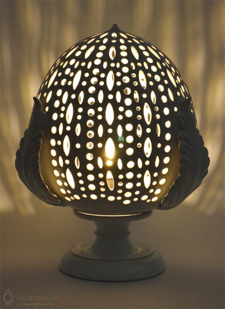 CARLINA - Lampada Pumo in ceramica