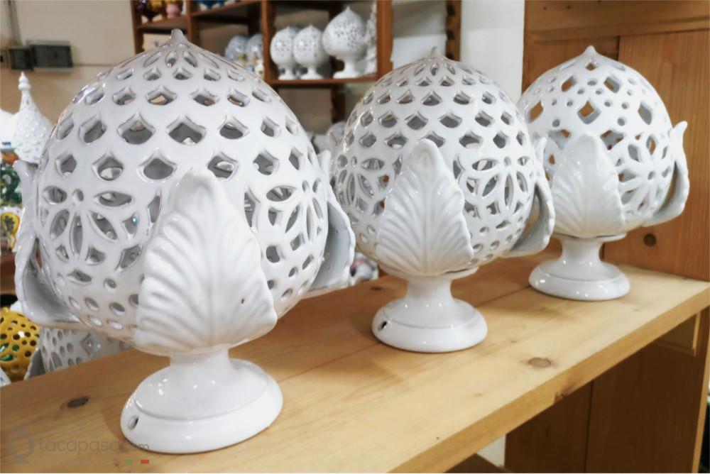 COLLEZIONE APULIA: Lampade in Ceramica ispirate alla Flora Spontanea