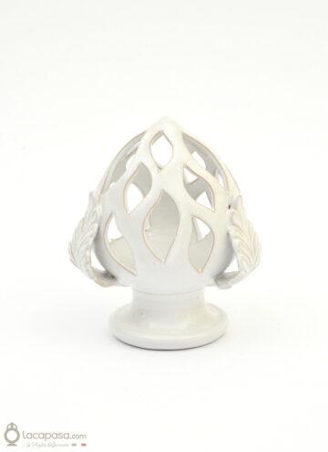 VISCHIO - Porta candela natalizio in ceramica