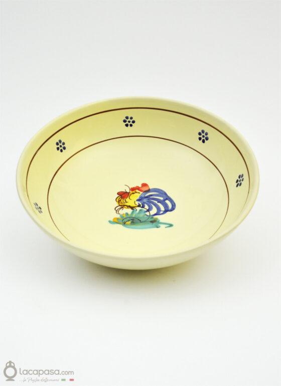 Insalatiera ceramica - decoro Gallo