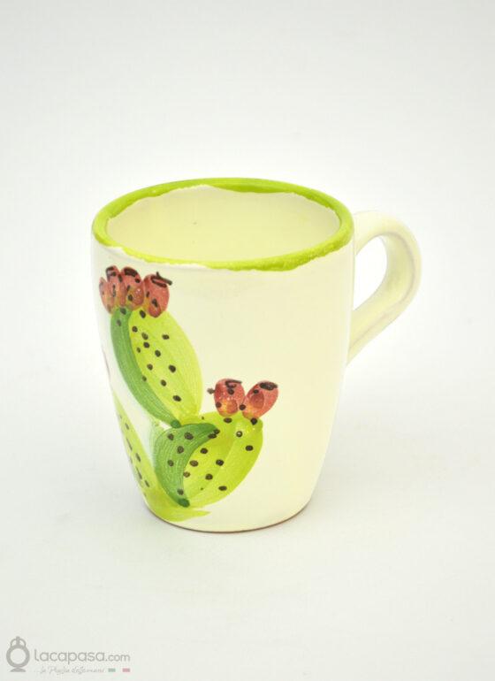 Tazza Mug ceramica - decoro Fico d'India