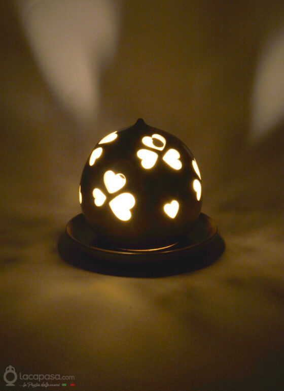 CALICANTO - Porta candela in ceramica